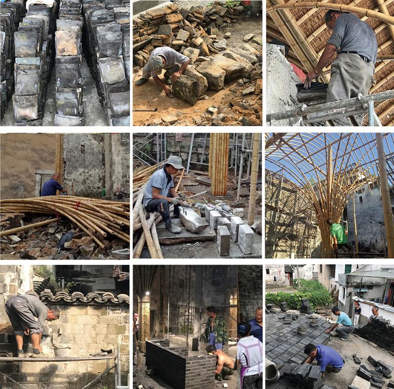 19位老匠人参与了竹蓬乡堂的建造    素朴建筑工作室供图