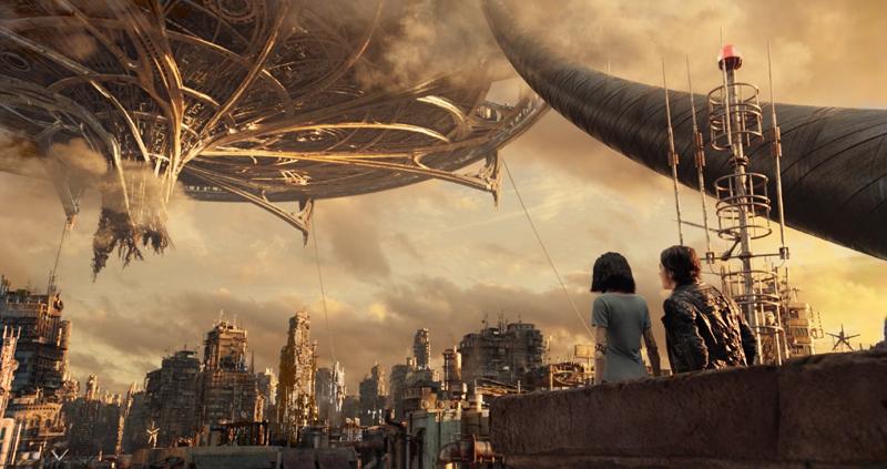 """《铳梦》的故事围绕着地上城市""""废铁城""""和天空之城""""萨雷姆""""的对立展开"""